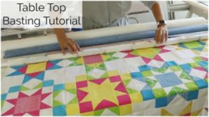 roll basting your quilt