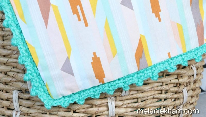sew a lining on crochet