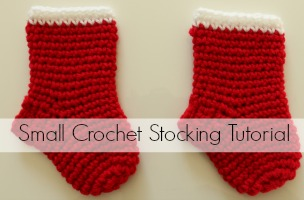 Small Crochet Christmas Stocking Tutorial