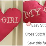 Easy Cross Stitch Pillow Tutorial