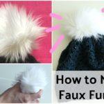 How to Make a Faux Fur Pom Pom DIY