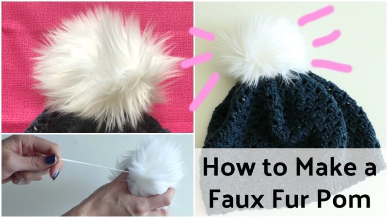 How to Make a Faux Fur Pom Pom DIY