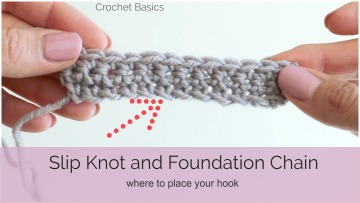 Crochet Basics: Slip Knot and Foundation Chain
