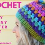 Crochet Granny Cluster Beanie Hat Pattern and Video
