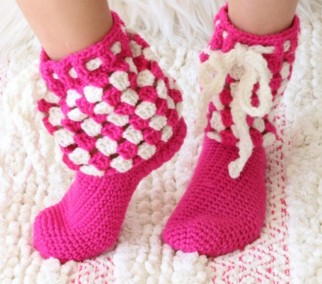crochet slipper socks pattern