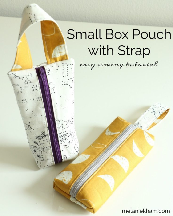 Small Box Easy Zippered Pouch with Handle Sewing Pattern
