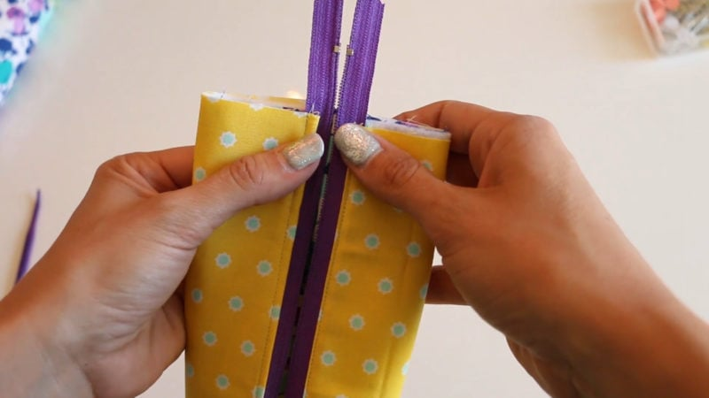 open zipper to sew