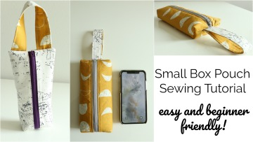 Small Box Pouch with Handle – Easy Sewing Tutorial