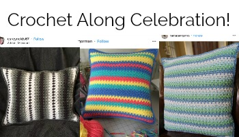The Moss Stitch Pillow Crochet Along – Celebrate! Part 5 of 5