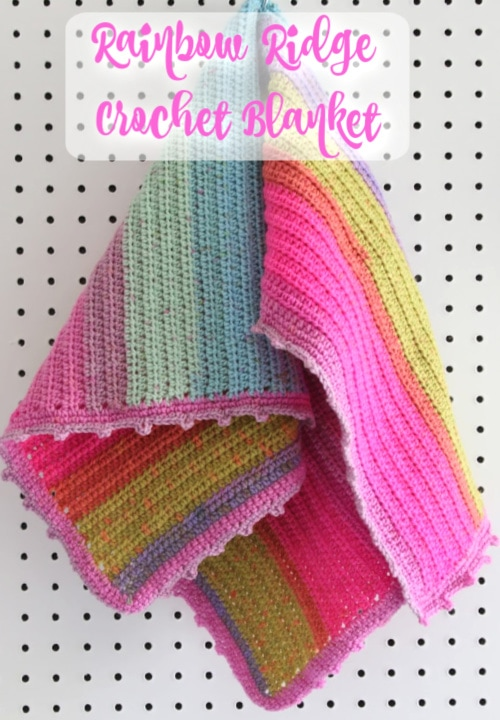 Rainbow Ridge Beginner Crochet Blanket Melanie Ham