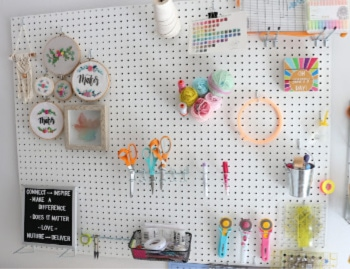 Craft Room Peg Board DIY