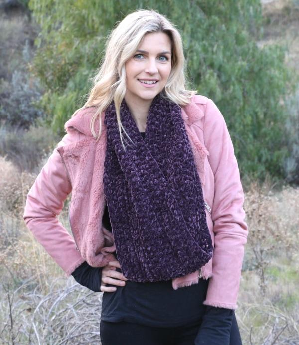 Easy Velvet Crochet Infinity Scarf Tutorial Melanie Ham