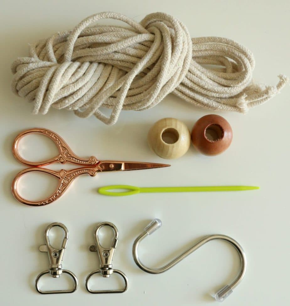 beginner macrame keychain kit