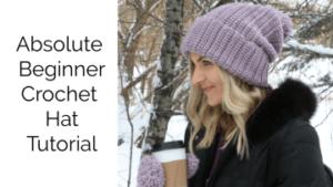 beginner crochet hat