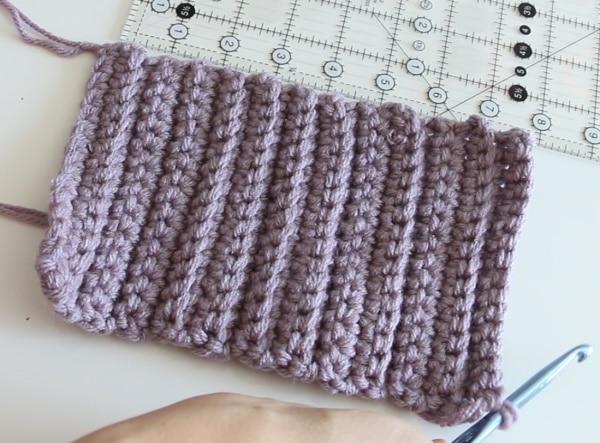 crochet mitten cuff size