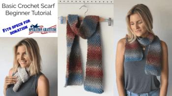 Basic crochet scarf thumbnail