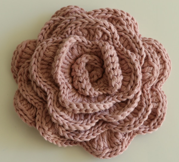crochet cotton rose