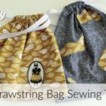 Easy Drawstring Bag Sewing Tutorial – No Sew Drawstring Bag