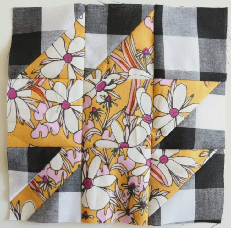 Modern Maple Leaf Quilt Block