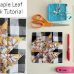 Modern Maple Leaf Quilt Block Pattern and Video Tutorial