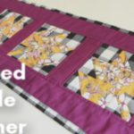 Quilted Table Runner Pattern – Modern Maple Leaf