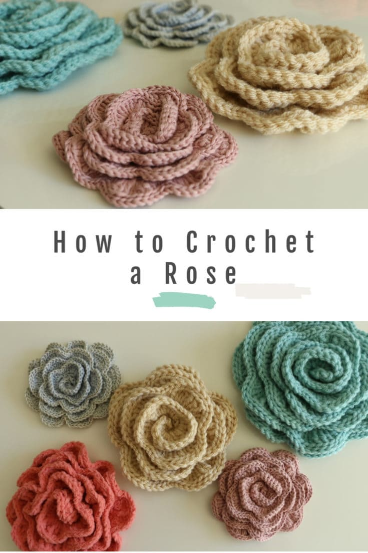 how to make a crochet rose with free pattern and video tutorial