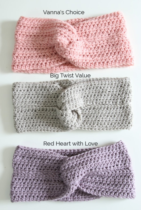 crochet headband yarn options