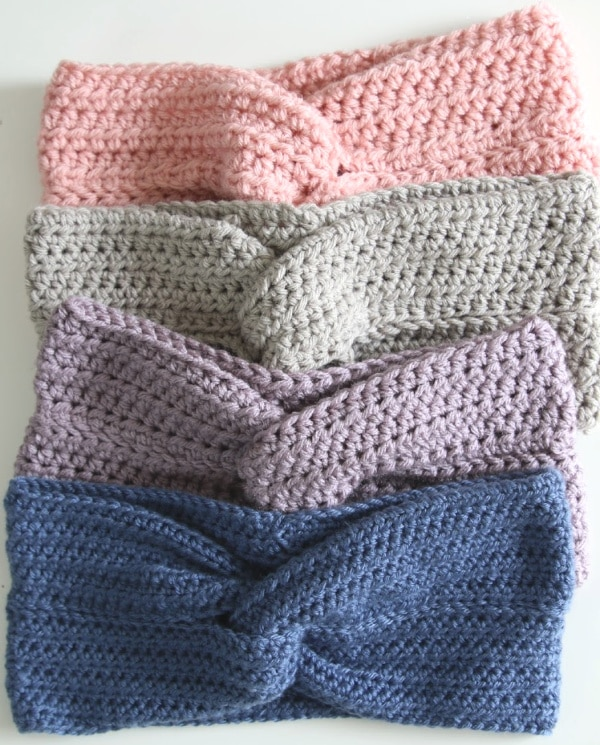 simple crochet headband colors