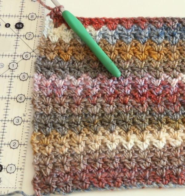 width of crochet scarf