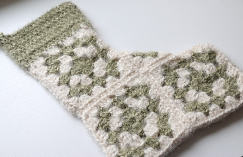 granny square stocking