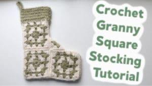 granny square stocking thumb