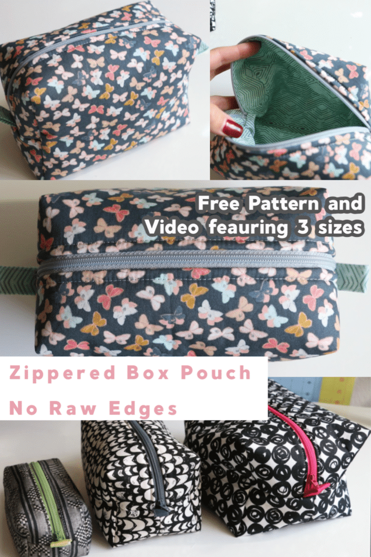 Learn how to sew this zippered box pouch with no raw edges!  Melanie Ham makes it easy to follow along to get this professional look that is great for gifts and organizing your things!