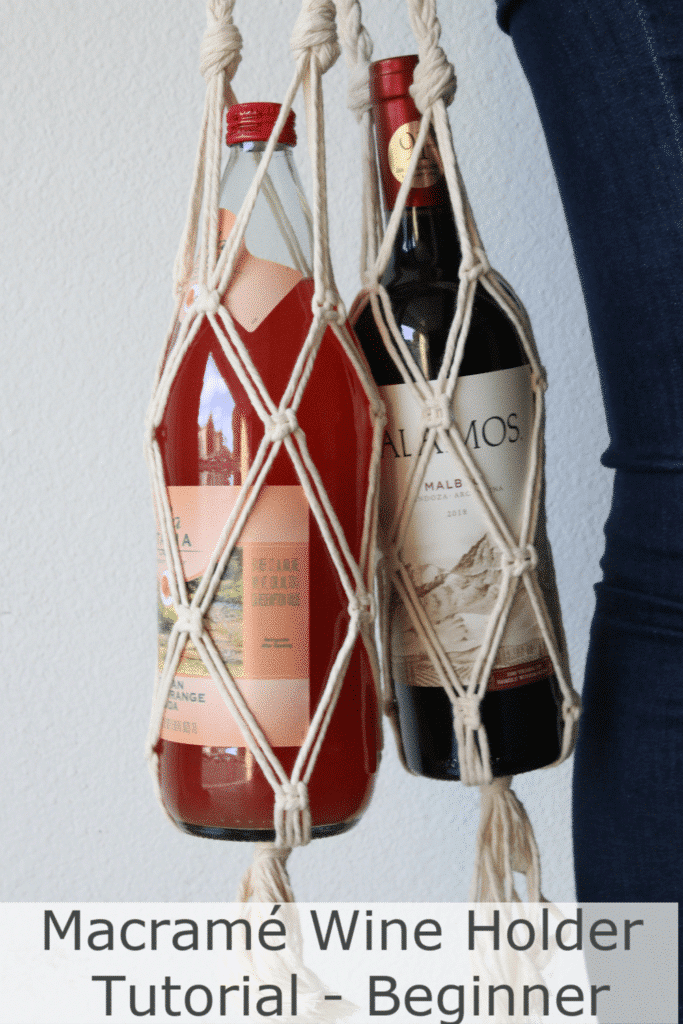 how to macrame a wine holder