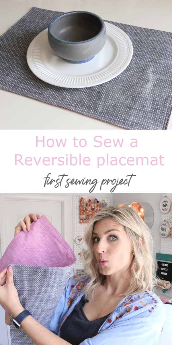Learn how to sew placemats in this absolute beginner friendly easy sewing project.  Melanie's learn to sew series is great!
