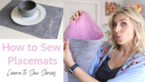 how to sew placemats