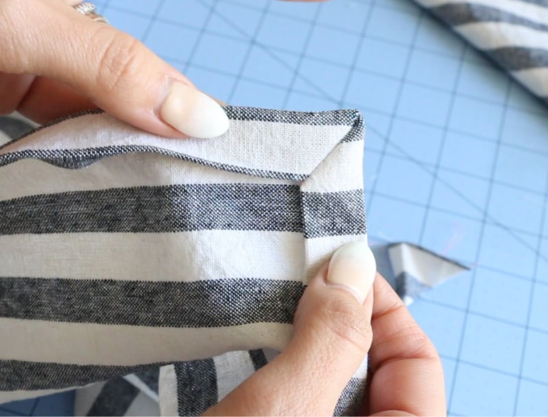 how to sew napkins