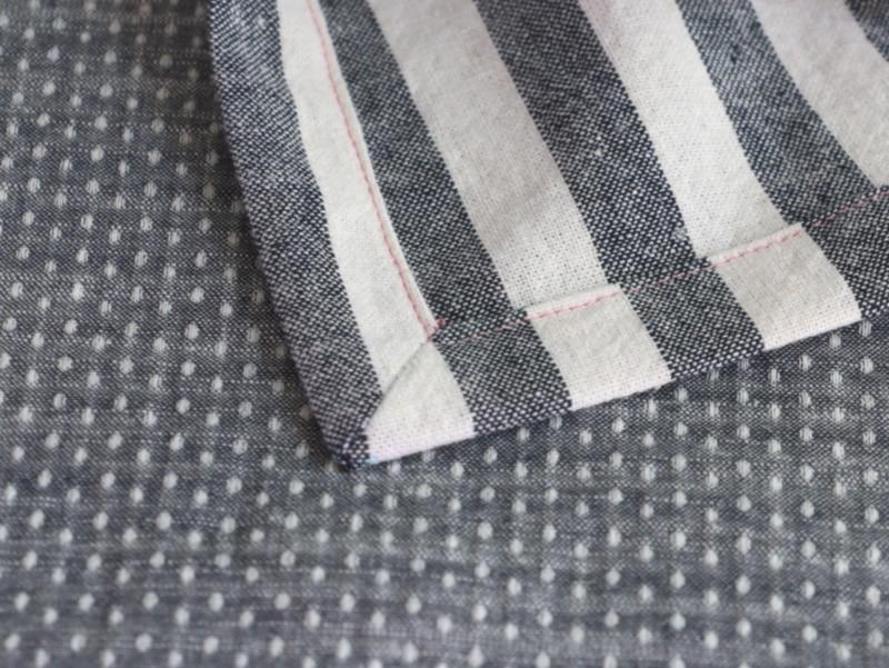 mitered corner napkin