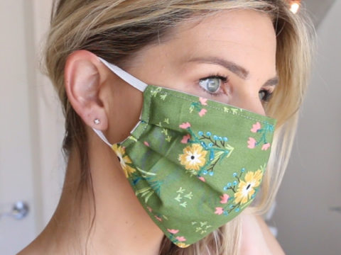 Homemade Face Mask With Elastic 10 Minutes Melanie Ham