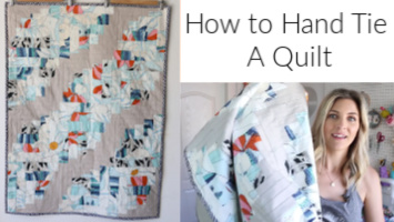 How to Hand Tie a Quilt