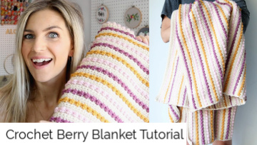 crochet berry blanket