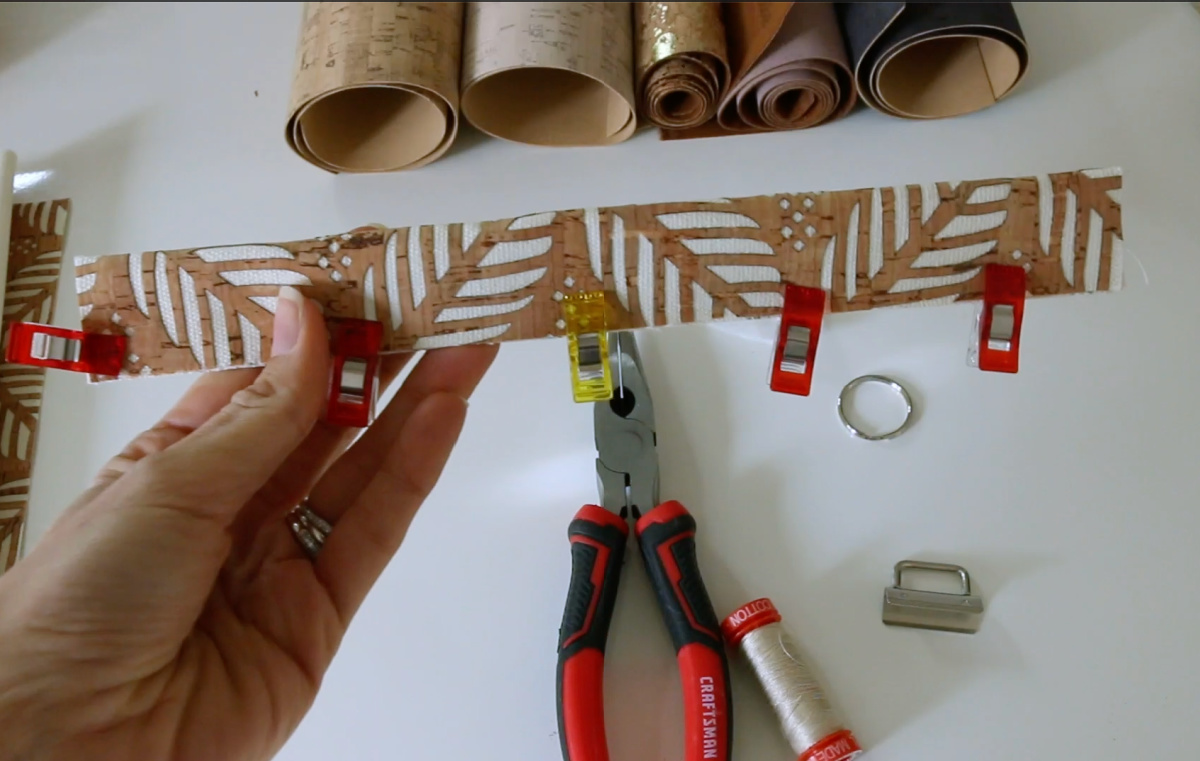 cork key fob tutorial