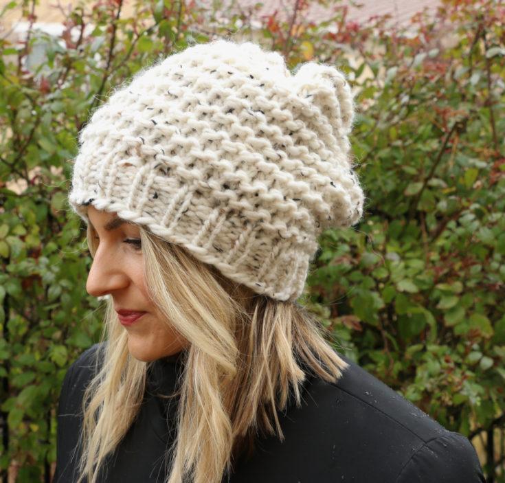 loom knitting hat
